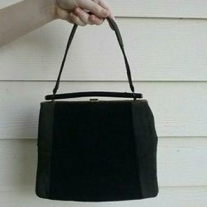Vintage 50s wool two toned handbag